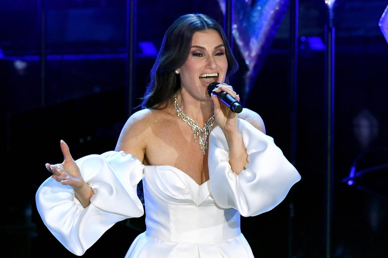 Idina Menzel performs onstage during the 92nd Annual Academy Awards at Dolby Theatre on February 09, 2020 in Hollywood, California.