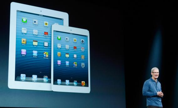 Apple Senior Vice President of Worldwide product marketing Phil Schiller announces the new iPad Mini.