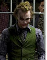 Heath Ledger as the Joker in The Dark Knight          Click image to expand.
