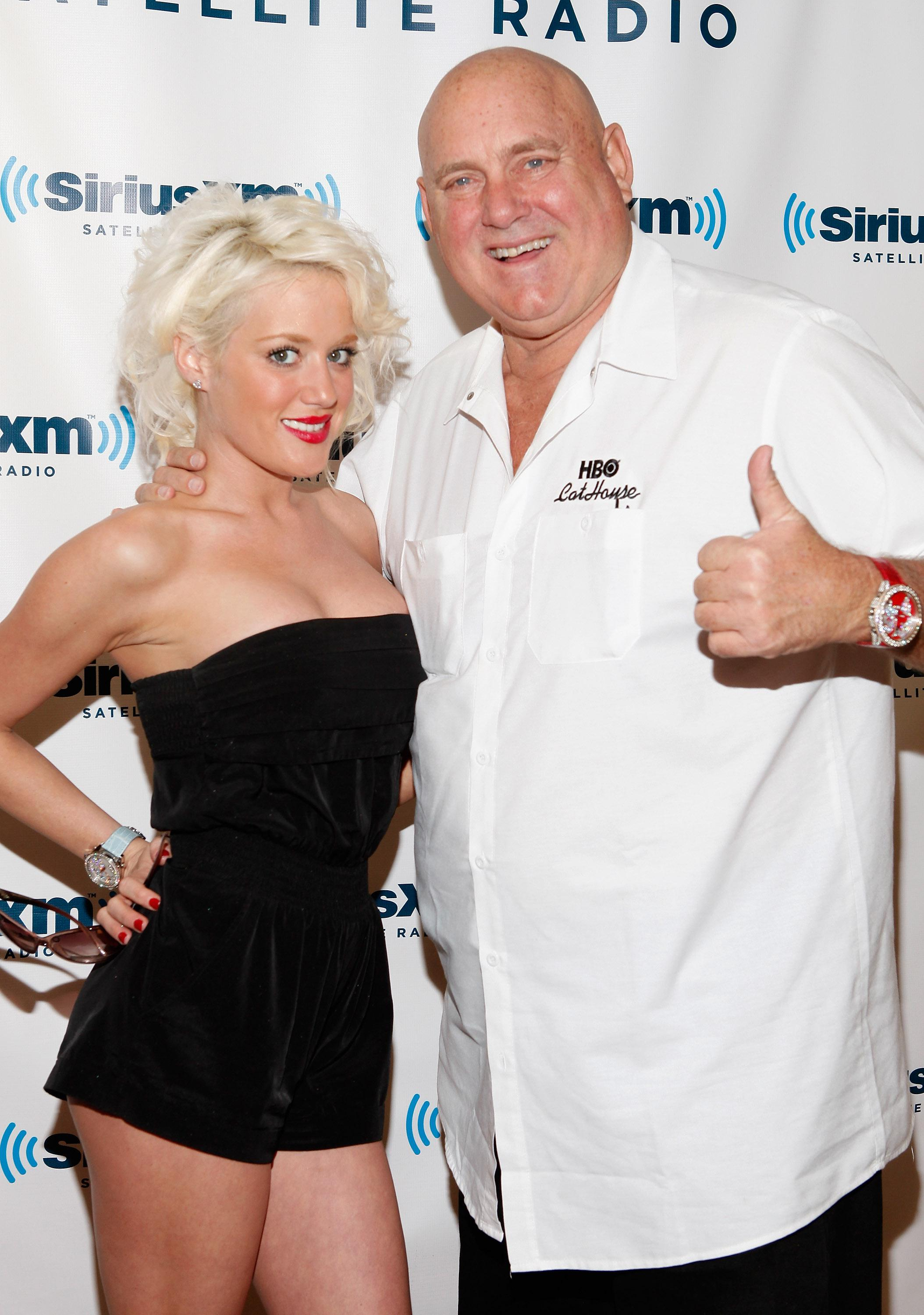 Cami Parker and Bunny Ranch founder Dennis Hof in 2011.