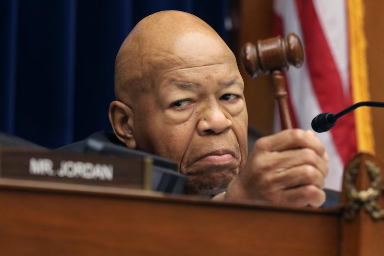 House Oversight and Government Reform Committee Chairman Elijah Cummings (D-MD) holds his gavel as he presides over a hearing on drug pricing in the Rayburn House Office building on Capitol Hill July 26, 2019 in Washington, D.C.