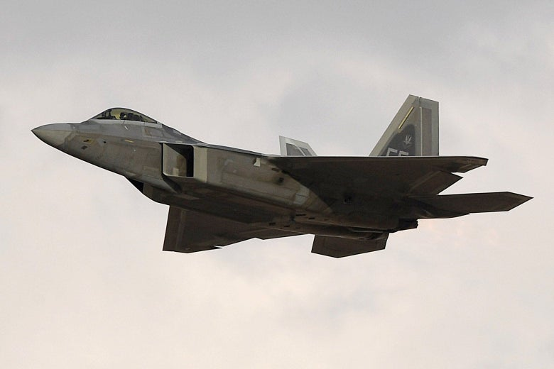 A U.S. Air Force F-22 fighter jet