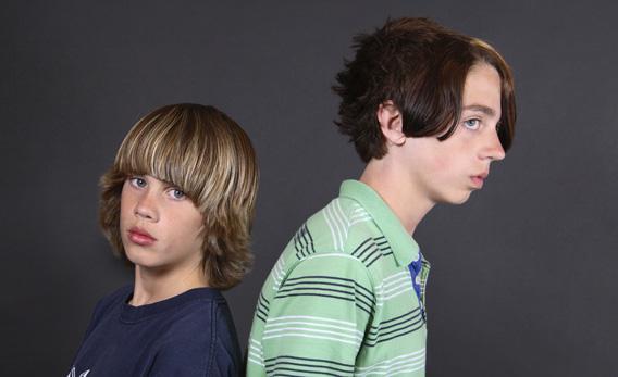 Early teen boys.