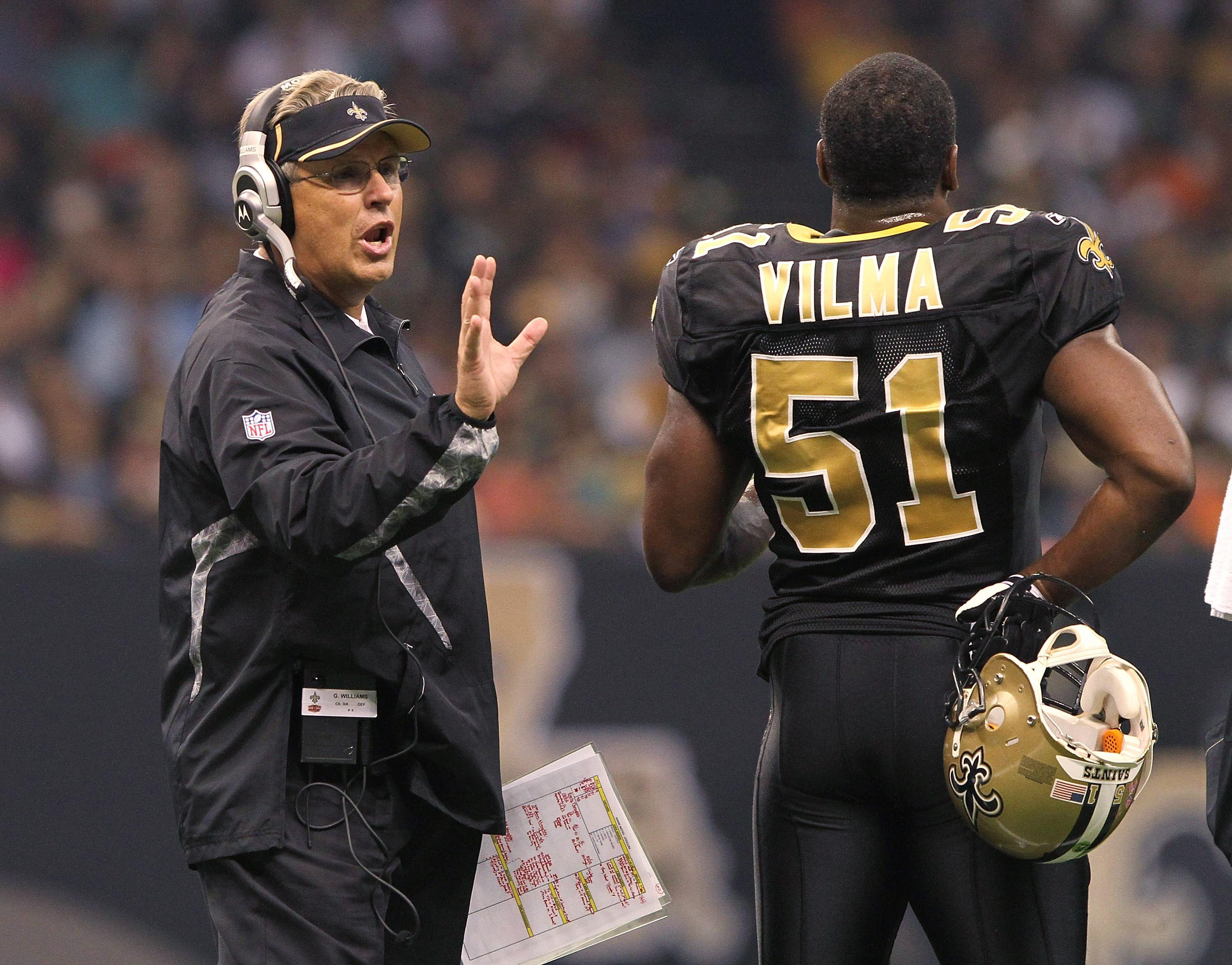 Gregg Williams and Jonathan Vilma