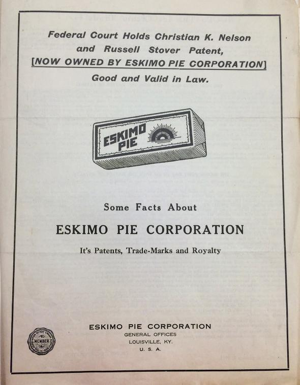 Eskimo Pie Corp.'s pamphlet about its 1923 consent decree.