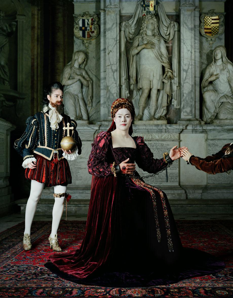 Existing in Costume. Mary Stuart. 230x180 cm C-Print, 2012
