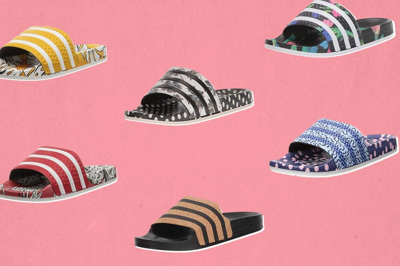 Various types of slippers