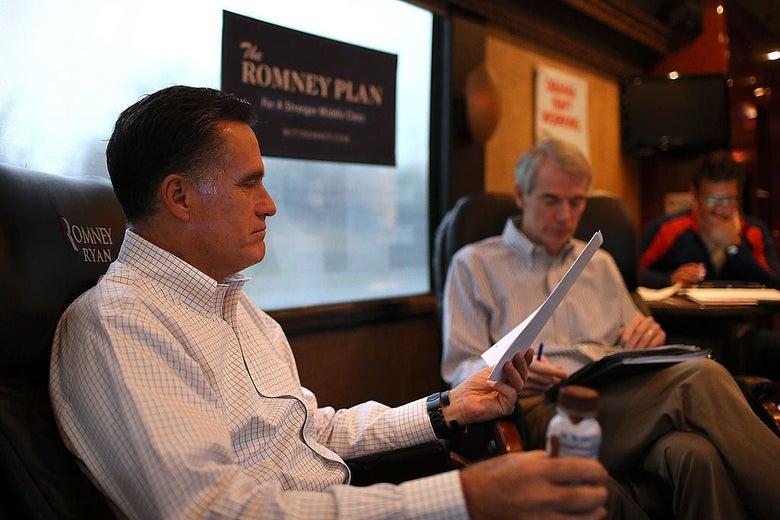 Mitt Romney and Rob Portman