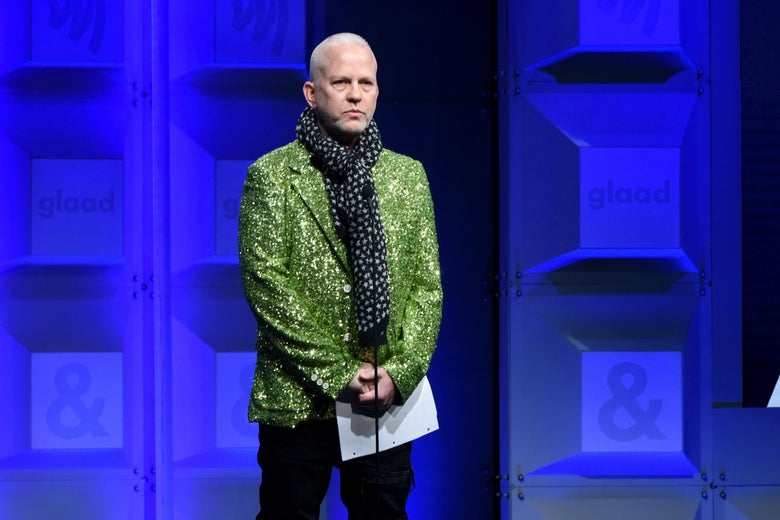 Ryan Murphy speaks onstage at the 29th Annual GLAAD Media Awards at The Beverly Hilton Hotel on April 12, 2018 in Beverly Hills, California.
