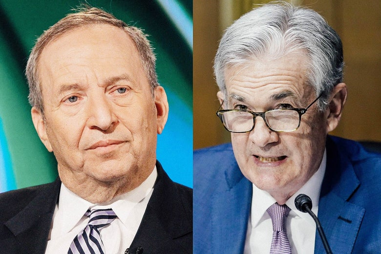 Larry Summers and Jerome Powell