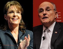 Sarah Palin and Rudy Giuliani. Click image to expand.