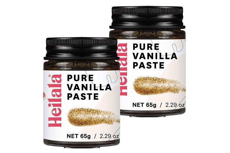 Two jars of vanilla paste