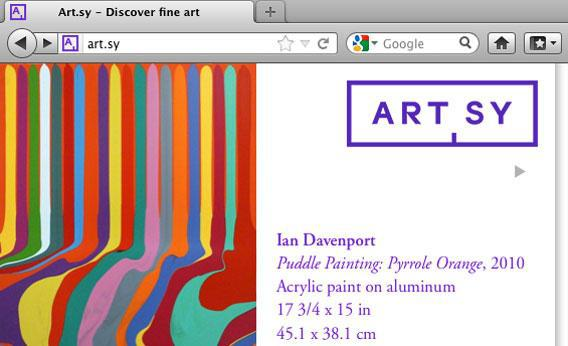 Art.sy website.