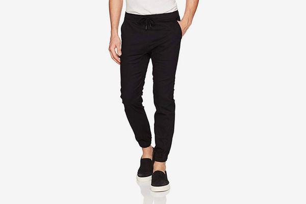 Brooklyn Athletics Men's Twill Jogger Pants Soft-Stretch Slim-Fit Trousers