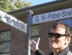 Quentin Tarantino at Quentin-Tarantino-Strasse.