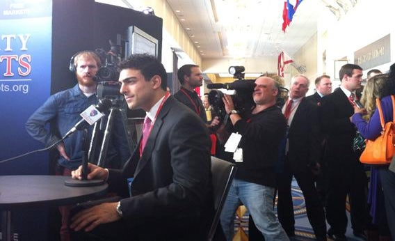 Derek Khanna does an interview at CPAC