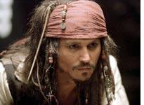 Depp in Pirates of the Caribbean