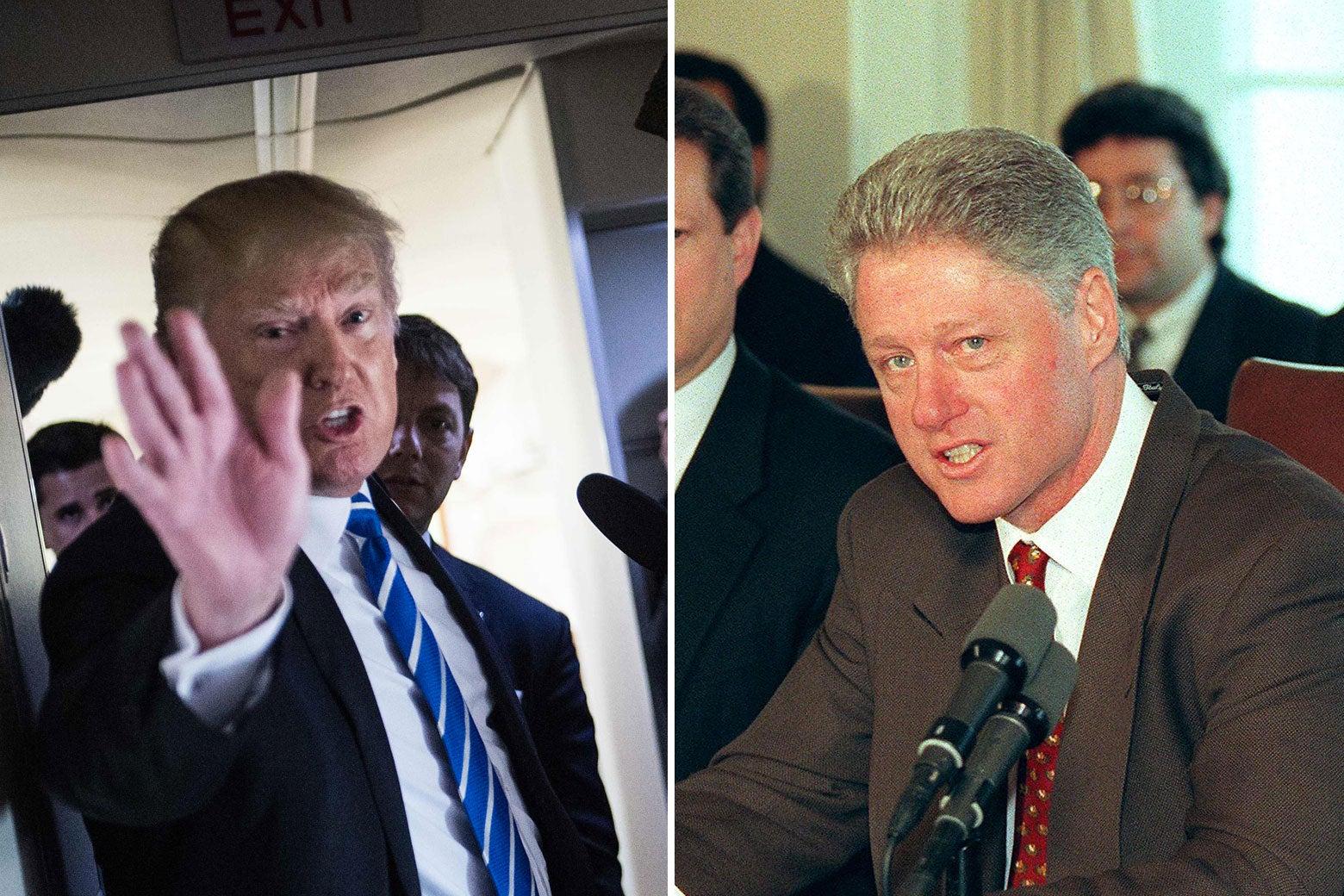 Donald Trump and Bill Clinton.