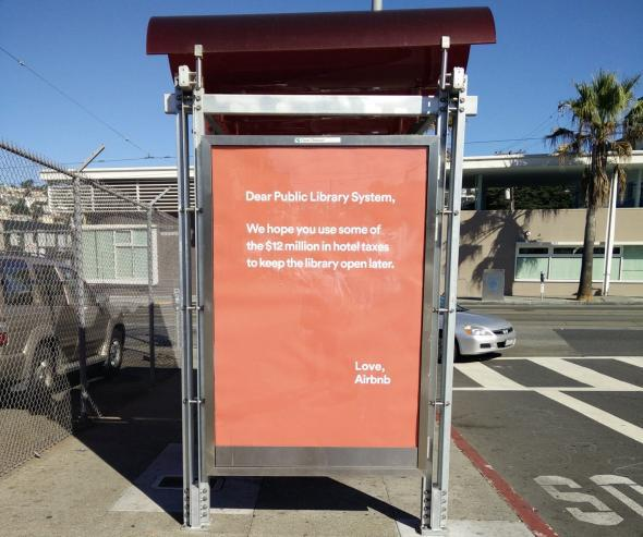 Airbnb's tax ads in San Francisco lost it the nice-guy edge in the sharing economy.