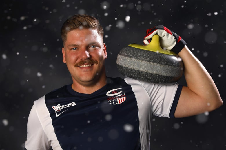 PARK CITY, UT - SEPTEMBER 26:  Curler Matt Hamilton poses for a portrait during the Team USA Media Summit ahead of the PyeongChang 2018 Olympic Winter Games on September 26, 2017 in Park City, Utah.  (Photo by Ezra Shaw/Getty Images)