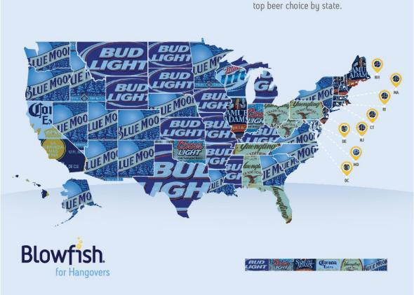 MAP: America's Favorite Beers by State