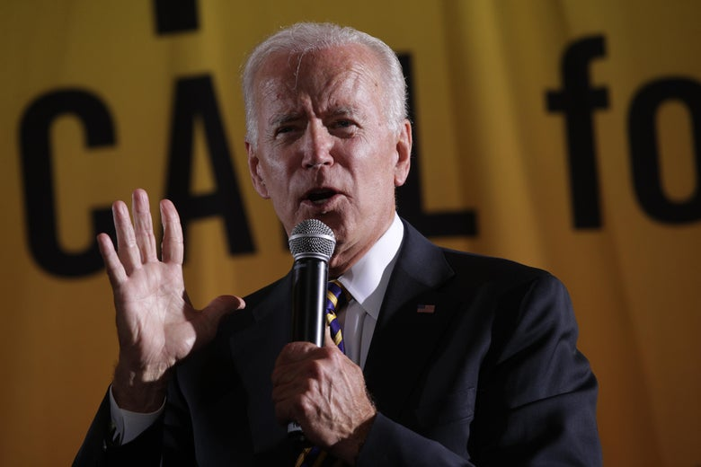 Democratic U.S. presidential hopeful and former Vice President Joe Biden addresses the Moral Action Congress of the Poor People's Campaign on Monday in Washington, D.C.