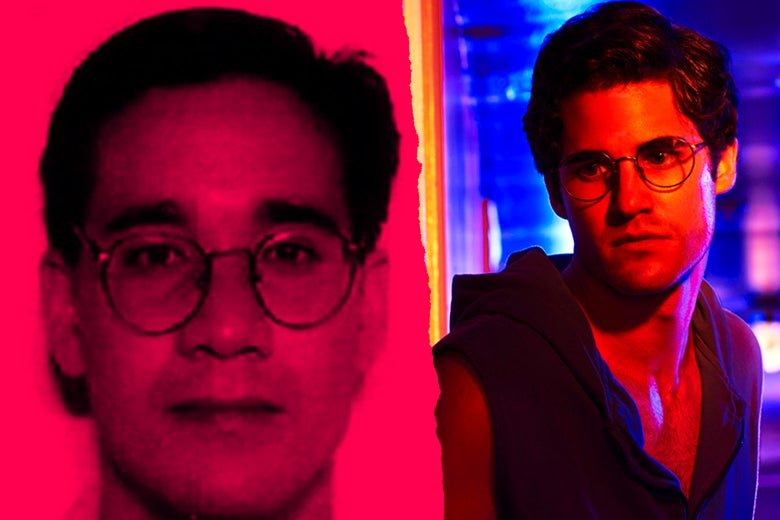 Andrew Cunanan, left, and Darren Criss as Andrew Cunanan