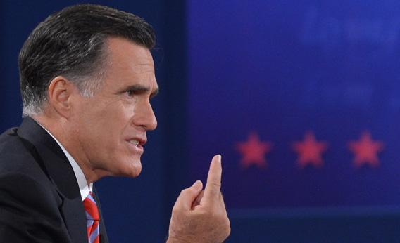 Mitt Romney speaks during the third and final presidential debate with Pres. Obama.