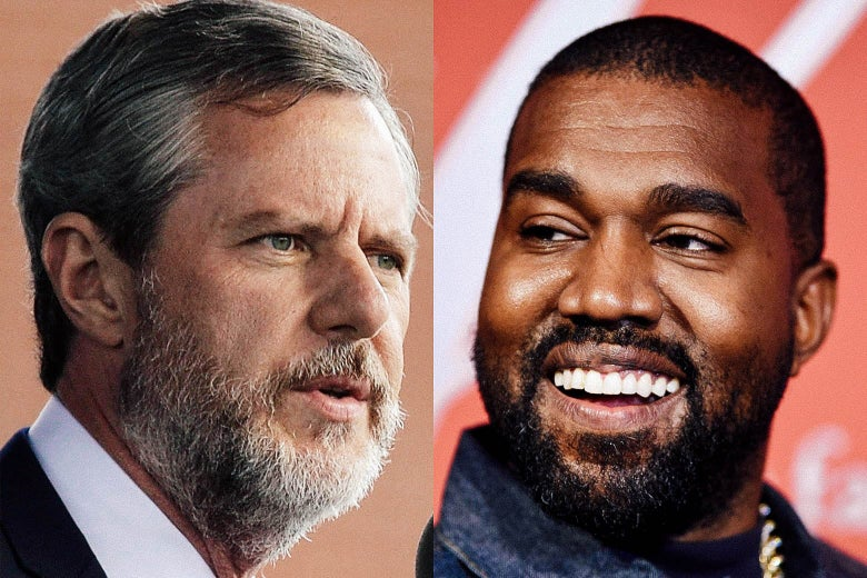 Jerry Falwell Jr. and Kanye West.