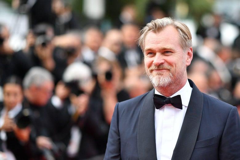Christopher Nolan in a tuxedo.