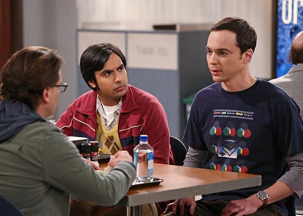Johnny Galecki, Kunal Nayyar and Jim Parsons from The Big Bang Theory.