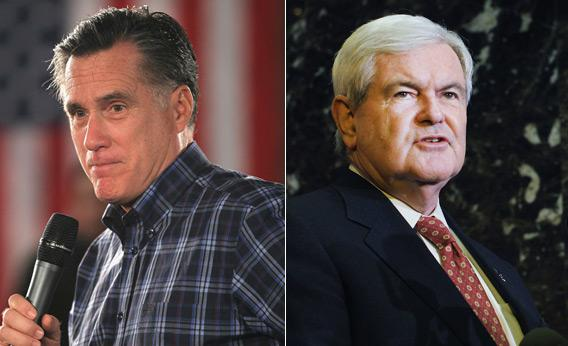Mitt Romney and Newt Gingrich.