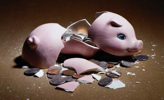 How do people survive once they break the piggy bank?