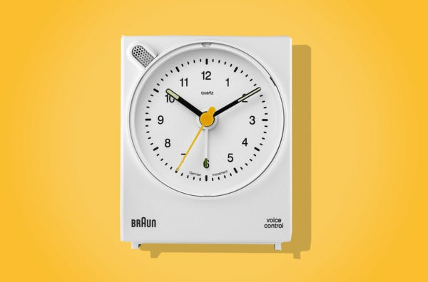 Braun Classic Analog Quartz Alarm Clock.