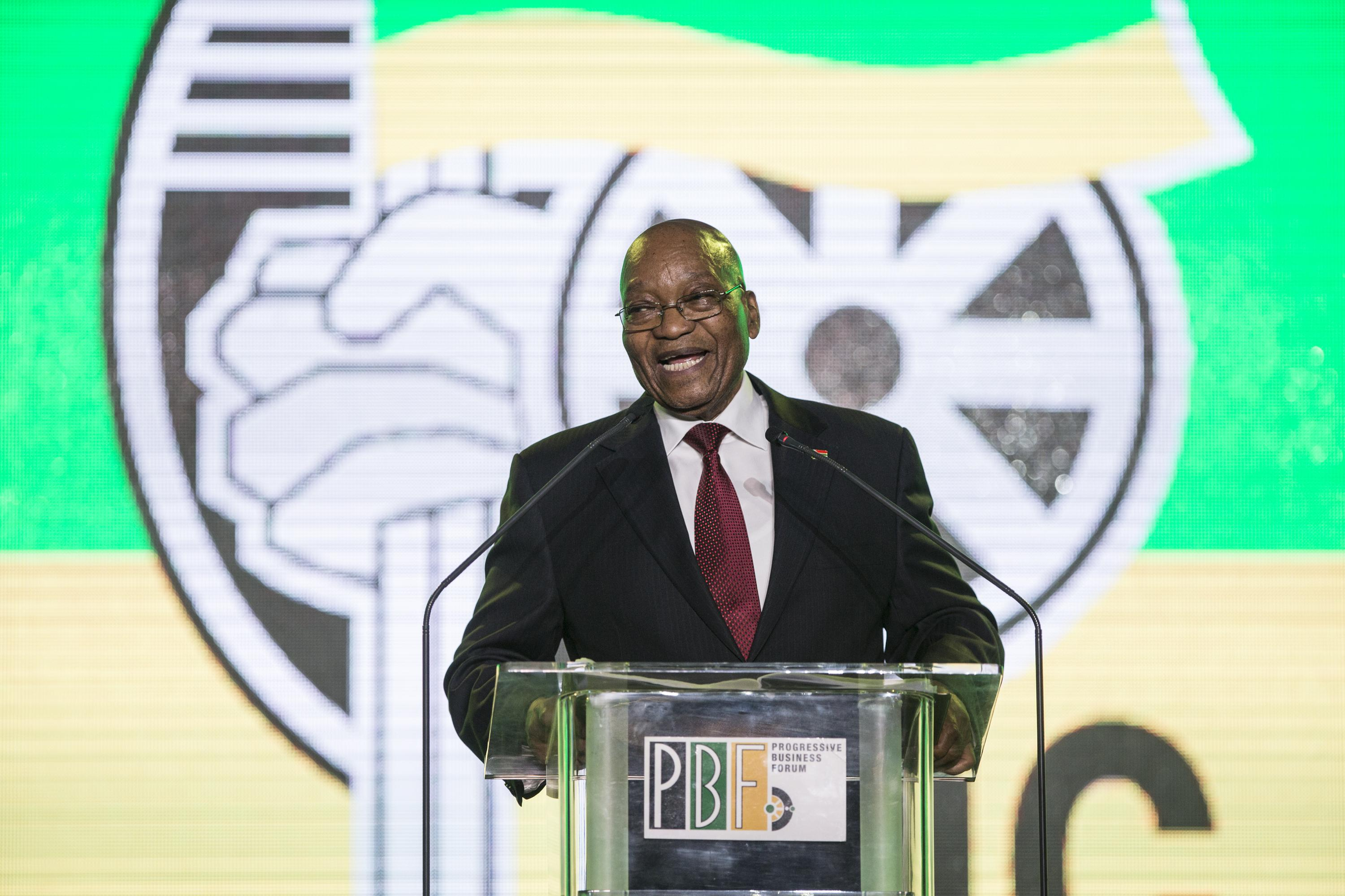 President Jacob Zuma speaks in Johannesburg on Dec.15, 2017.
