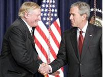 William F. Buckley, Jr. with George W. Bush. Click image to expand.
