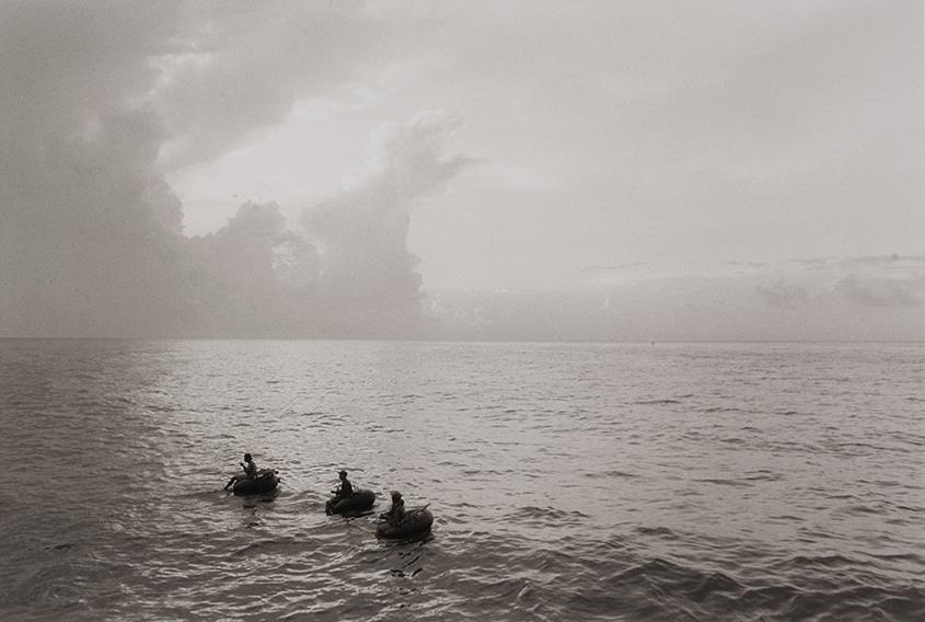 Cuban fishermen, from the series Cuba: Going Back, 1996.