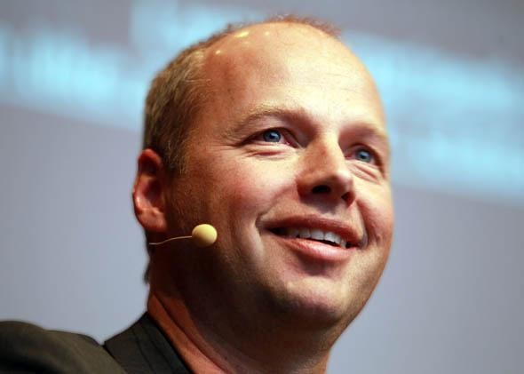 Sebastian Thrun of Stanford University speaks during the Digital Life Design conference (DLD) at HVB Forum on January 23, 2012 in Munich, Germany.