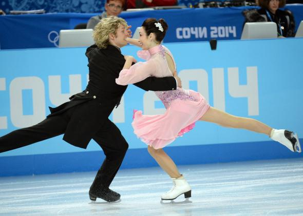 Meryl Davis and Charlie White perform at the Iceberg Skating Palace on Feb. 16, 2014.
