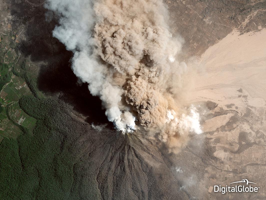 Mount Sinabung, Indonesia