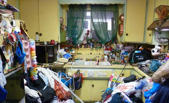 Still from 'Hoarders' of Barbara G.'s kitchen.