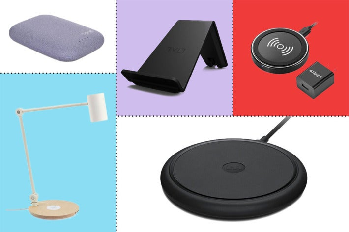 Collage of wireless chargers.