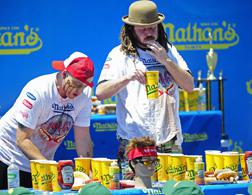 Hot dog eating contest. Click image to expand.