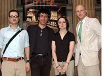 The comedy troupe: Jonathan Goldstein, Eric Bogosian, Sarah Vowell, and me