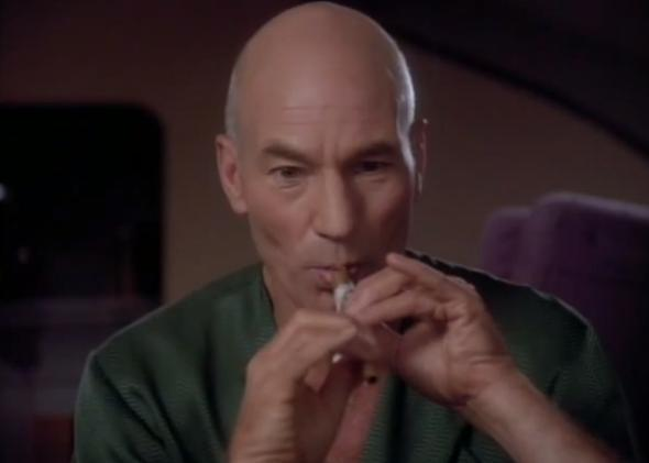 "Captain Picard sings ""Let It Snow!"" The Christmas carol gets Star Trek remix."