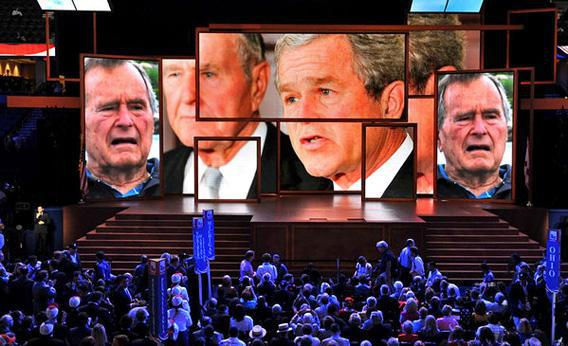 Tribute to the Bush family at the 2012 Republican National Convention in Tampa, Fla.