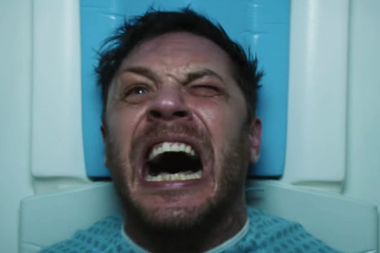 Tom Hardy screaming in pain has become a small meme among commenters.