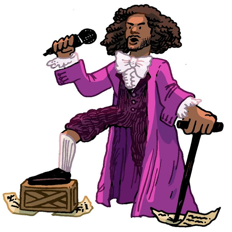 Illustration of Thomas Jefferson from the musical Hamilton.