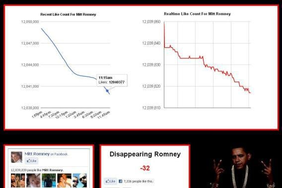 Disappearing Romney website