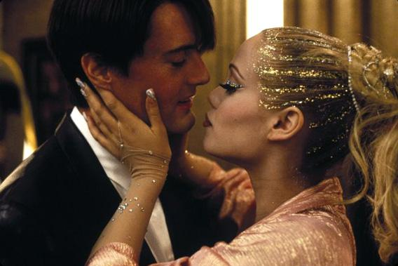Elizabeth Berkley and Kyle MacLachlan in Showgirls.